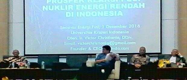 Wujud Kepedulian Masyarakat, UKI Gelar Diskusi Publik Soal Energi Nuklir