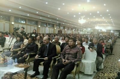KEDUBES PALESTINA RAYAKAN NATAL BERSAMA PEMUDA KRISTEN SE-INDONESIA
