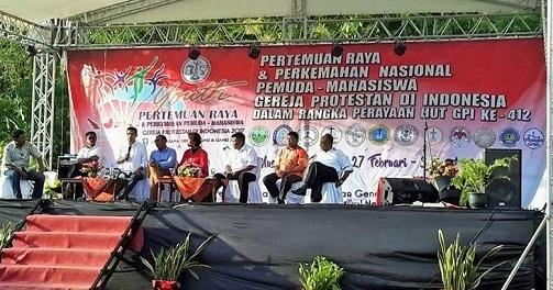 HUT KE-412, GEREJA PROTESTAN DI INDONESIA GELAR PERTEMUAN RAYA PERKEMAHAN PEMUDA DAN MAHASISWA