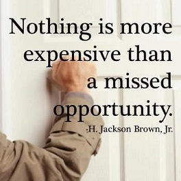 "H. Jackson Brown Jr: ""NOTHING IS MORE EXPENSIVE THAN A MISSED OPPORTUNITY"""