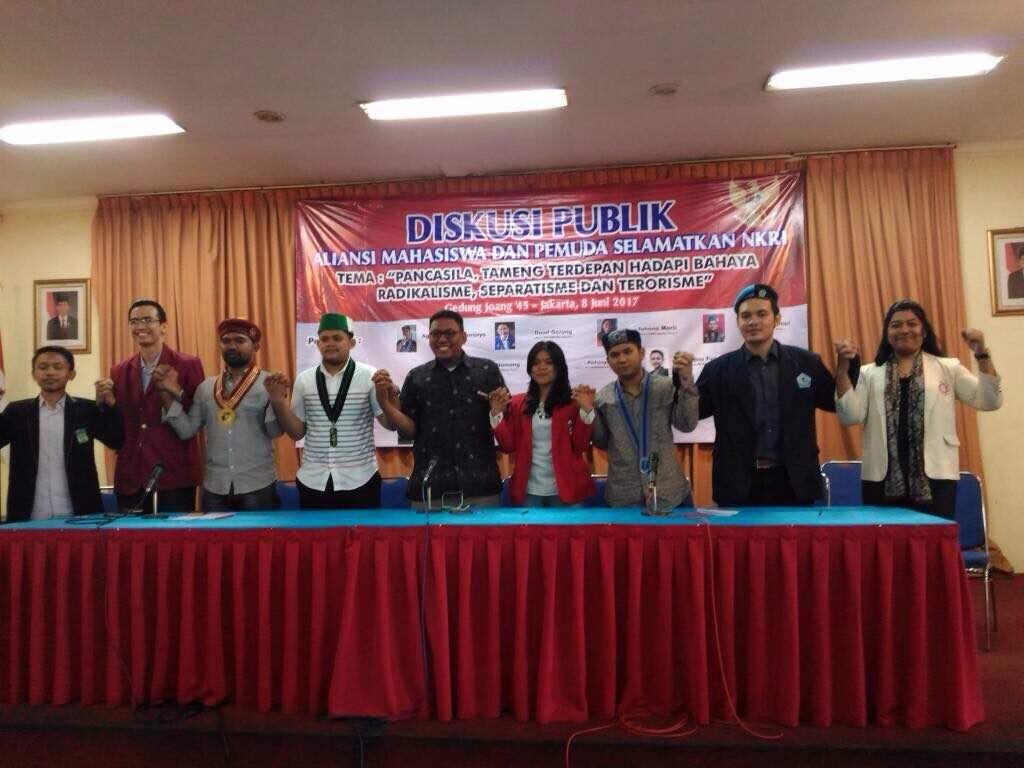 GMKI Jakarta Gagas Diskusi tentang Pancasila Bersama Aliansi Mahasiswa dan Pemuda Selamatkan NKRI