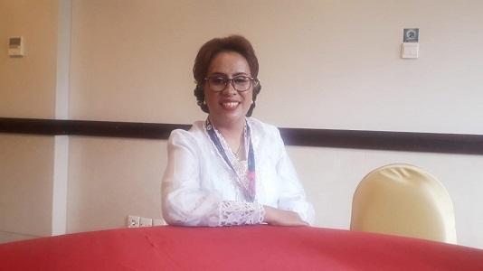 Pdt Sonya Ansye Medyarto Sitaniapessy, STh, MMin, Pendeta GPIB Pancaran Kasih dan Ketua Panitia Pelaksana PST GPIB 2020 usai memberikan keterangan kepada wartawan