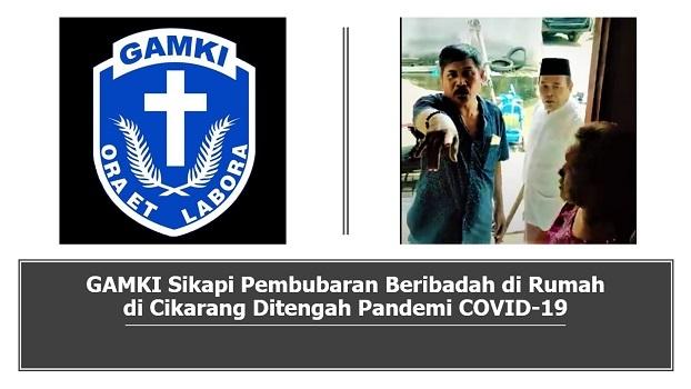 GAMKI Sikapi Pelarangan Beribadah di Rumah Ditengah Pandemi COVID-19