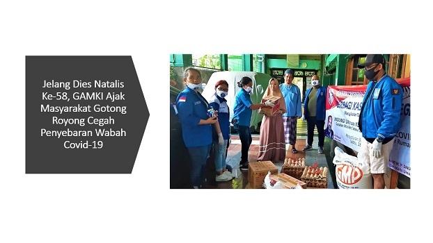 Jelang Dies Natalis Ke-58, GAMKI Ajak Masyarakat Gotong Royong Cegah Penyebaran Wabah Covid-19
