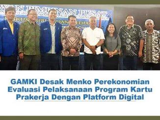 GAMKI Desak Menko Perekonomian Evaluasi Pelaksanaan Program Kartu Prakerja Dengan Platform Digital