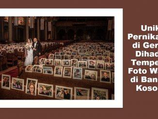Unik, Pernikahan di Gereja Dihadiri Tempelan Foto Wajah di Bangku Kosong