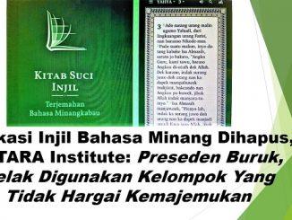 Aplikasi Injil Bahasa Minang Dihapus, SETARA Institute: Preseden Buruk, Kelak Digunakan Kelompok Yang Tidak Hargai Kemajemukan