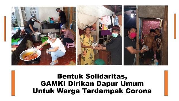 Bentuk Solidaritas, GAMKI Dirikan Dapur Umum Untuk Warga Terdampak Corona