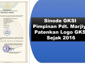 Sinode GKSI Pimpinan Pendeta Marjiyo Patenkan Logo GKSI Sejak 2016