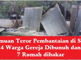 Temuan Teror Pembantaian di Sigi: 4 Warga Gereja Dibunuh dan 7 Rumah dibakar