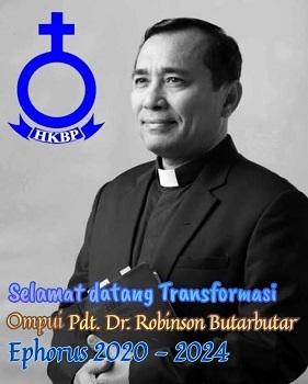 Ephorus HKBP 2020-2024 Pdt Dr Robinson Butarbutar, Selamat