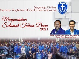 Pesan Ketum DPP GAMKI Willem Wandik, SSos Hadapi Tantangan Tahun 2021