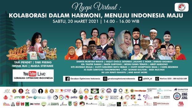 GOI dan Lembaga Lintas Iman Gelar Panggung Budaya Nyepi Indonesia Tahun Saka 1943/2021